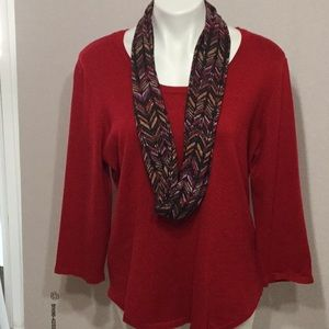 Kim Rogers sweater with infinity Scarf. NWOT. XL